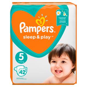 Pampers Sleep&Play V5, 42Plenek, 11–16kg Důvěrný Pocit Sucha
