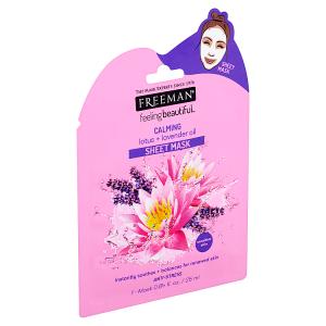 Freeman Zklidňující látková maska s lotosem a levandulí 25ml