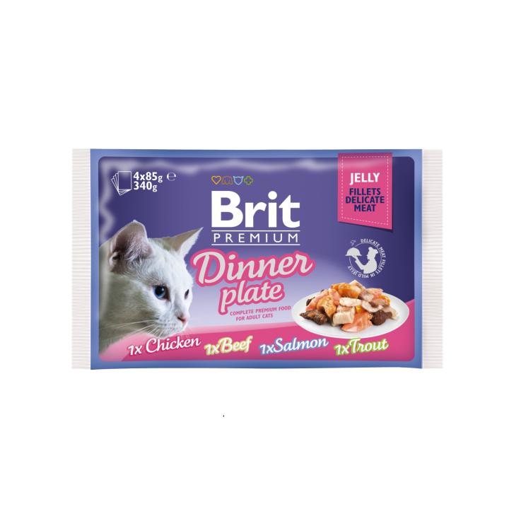Brit premium kapsičky pro kočky 4x85g