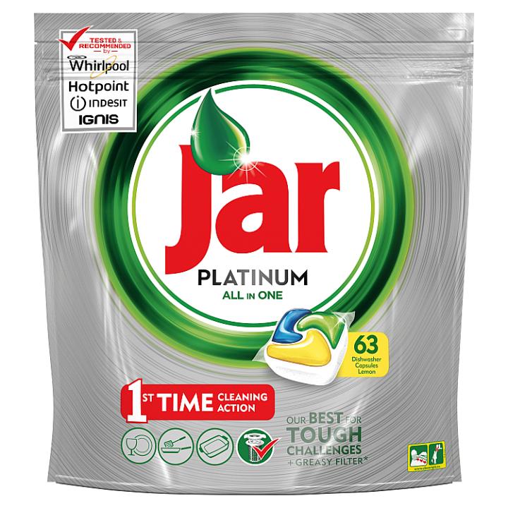 Jar Platinum Kapsle Do Automatické Myčky Nádobí Lemon 63 Ks