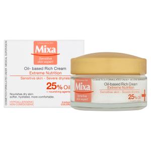 Mixa Sensitive Skin Expert bohatý výživný krém s pupálkovým olejem 50ml