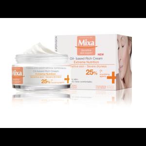 MIXA Extreme nutrition bohatý výživný krém s pupalkovým olejem, 50ml