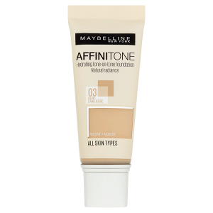 Maybelline New York Affinitone 03 Light Sand Beige hydratační make-up 30ml