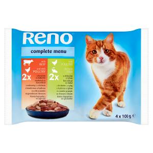 Reno Kompletní krmivo pro dospělé kočky 4 x 100g