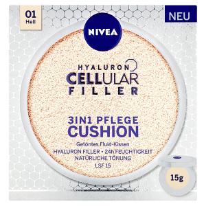 Nivea Hyaluron Cellular Filler Cushion Pečující tónovací krém v houbičce 3 v 1 01 světlý odstín 15g