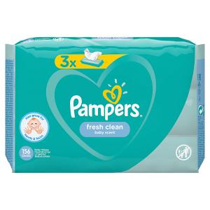 Pampers Fresh Clean Dětské Čisticí Ubrousky 3 Balení = 156 Dětských Čisticích Ubrousků