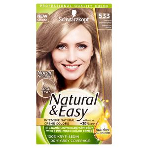 Natural & Easy Barva na vlasy intenzivní popelavě plavý 533