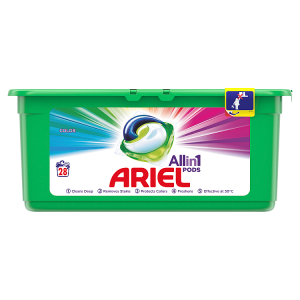 Ariel Allin1 Pods Color Kapsle Na Praní, 28 Praní