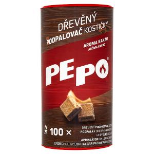 PE-PO Dřevěný podpalovač kostičky 100 ks