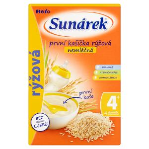 Sunárek První kašička rýžová nemléčná 180g