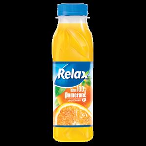 Relax 100% POMERANČ 0,3 L PET