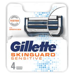 Gillette SkinGuard Sensitive Holicí Hlavice Pro Muže 4ks