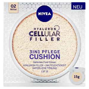 Nivea Hyaluron Cellular Filler Pečující make-up v houbičce 02 střední odstín 15g