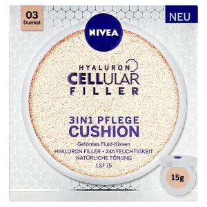 Nivea Hyaluron Cellular Filler Pečující make-up v houbičce 03 tmavý odstín 15g