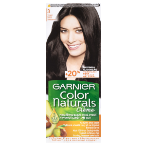 Garnier Color Naturals permanentní barva na vlasy 3 tmavě hnědá, 60+40+12ml