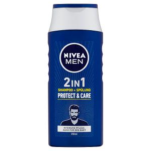 Nivea Men Protect & Care Šampon a kondicionér na vlasy a vousy 2v1 250ml