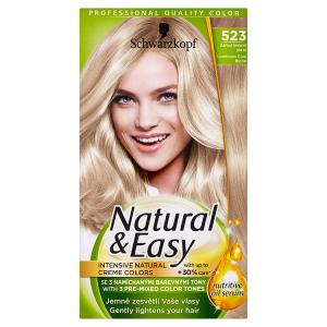 Schwarzkopf Natural & Easy barva na vlasy Zářivá Ledově Plavá 523