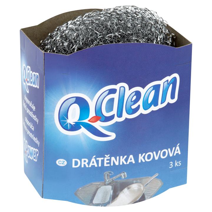 Q-Clean Drátěnka kovová 3 ks Q-Clean
