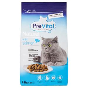PreVital Naturel Kompletní krmivo pro dospělé kočky s lososem 1,4kg