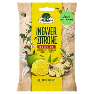 Willi Dungl Ingwer & Zitrone, bez cukru, 65g
