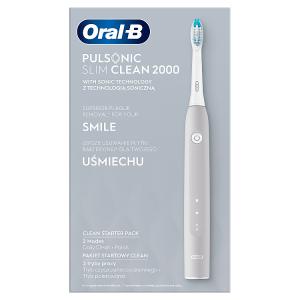 Oral-B Pulsonic Slim Clean 2000 Elektrický Sonický Zubní Kartáček Šedý