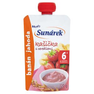 Sunárek Kašička s cereáliemi banány a jahodami 120g