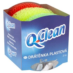 Q-Clean Drátěnka plastová 3 ks