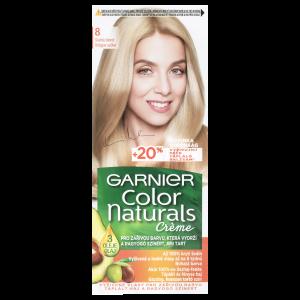 Garnier Color Naturals  permanentní barva na vlasy 8.0 světlá blond, 60+40+12ml