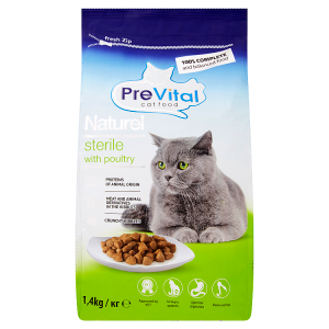 PreVital Naturel Kompletní krmivo pro dospělé sterilizované a kastrované kočky 1,4kg