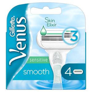 Venus Sensitive Smooth Náhradní Holicí Hlavice 4x