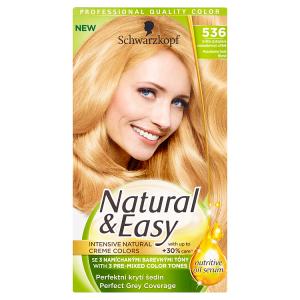 Natural & Easy Barva na vlasy světle zlatoplavý makadamiový oříšek 536