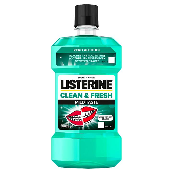 E-shop Listerine Clean & Fresh Mild Taste ústní voda 500ml