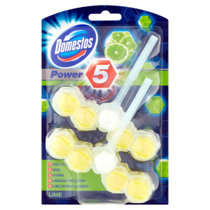 Domestos Power 5 Lime WC blok 2 x 55g