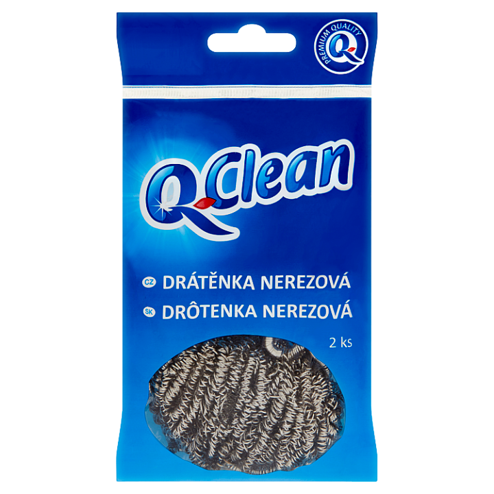 Q-Clean Drátěnka nerezová 2 ks Q-Clean