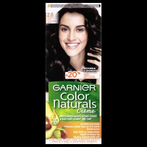Garnier Color Naturals permanentní barva na vlasy 2.0 přirozená černá, 60+40+12ml