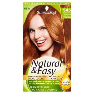 Natural & Easy Barva na vlasy středně měděně plavá terakota 546