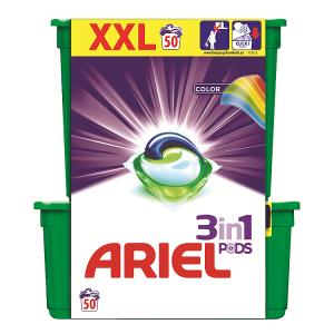 Ariel Color Kapsle Na Praní Prádla Pro Zářivé Barvy 50Praní