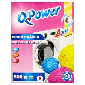 Q-Power Prací prášek na vlnu a jemné prádlo 600g