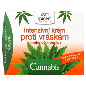 Bione Cosmetics Bio Cannabis intenzivní krém proti vráskám peptidový komplex 51ml