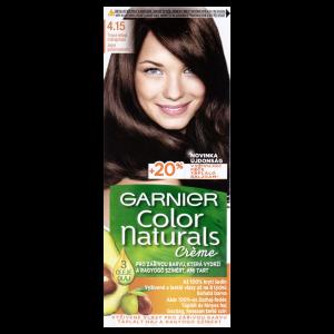 Garnier Color Naturals permanentní barva na vlasy 4.15 tmavá ledová mahagonová, 60+40+12ml