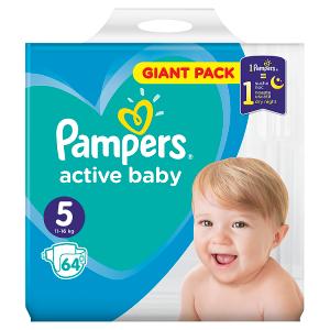 Pampers Active Baby Velikost 5, 64 Plenek, 11-16kg