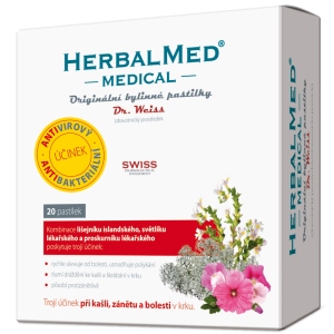 HerbalMed MEDICAL pastilky (20pst/kra)
