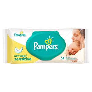 Pampers New Baby Sensitive 54 Dětské Čisticí Ubrousky