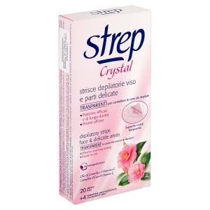 Strep Crystal Voskové pásky pro epilaci tváře a citlivých míst 20 ks