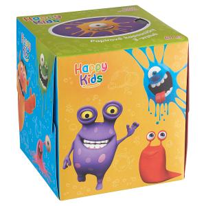 Happy Kids Papírové kapesníčky 3 vrstvé 60 ks