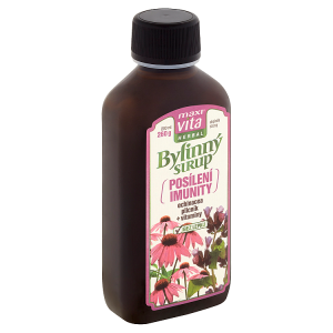 MaxiVita Herbal Bylinný sirup posílení imunity echinacea plicník + vitaminy 200ml
