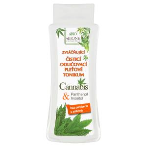 Bione Cosmetics Bio Cannabis zvláčňující čisticí odličovací pleťové tonikum 255ml