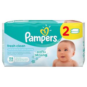 Pampers Fresh Clean 2x64 Dětské Čisticí Ubrousky
