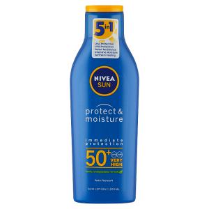 Nivea Sun Protect & Moisture Hydratační mléko na opalování OF 50+ 200ml