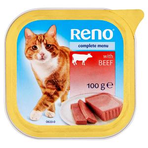 Reno Kompletní krmivo pro dospělé kočky s hovězím 100g